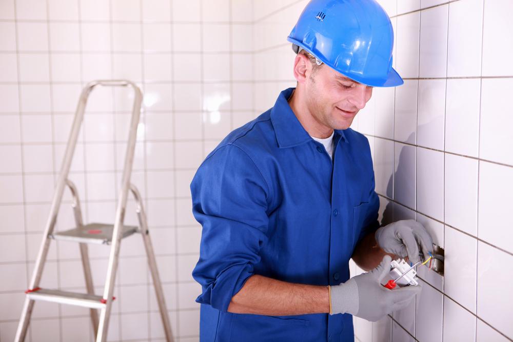 elektriciteit aansluiten badkamer