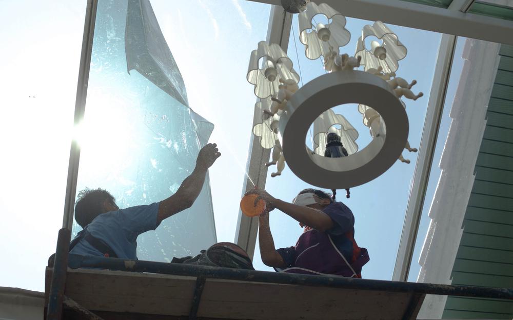 raamfolie aanbrengen dak