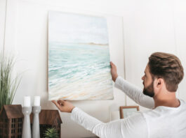 canvas ophangen