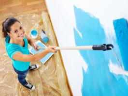 muren schilderen vrouw